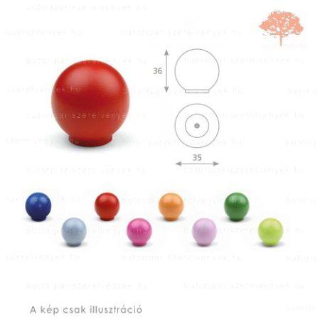 BA piros színű gomb