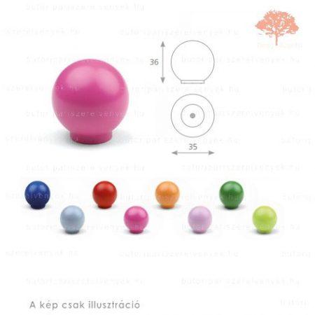 BA rózsaszín színű gomb