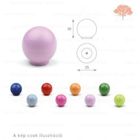 BA lila színű gomb