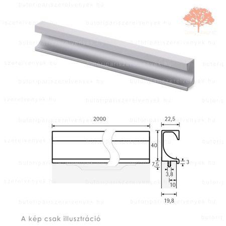 ES2000 eloxált alumínium színű fogantyú profil