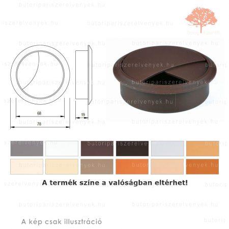 Barna színű KEREK ø70mm-es zárható műanyag kábelkivezető