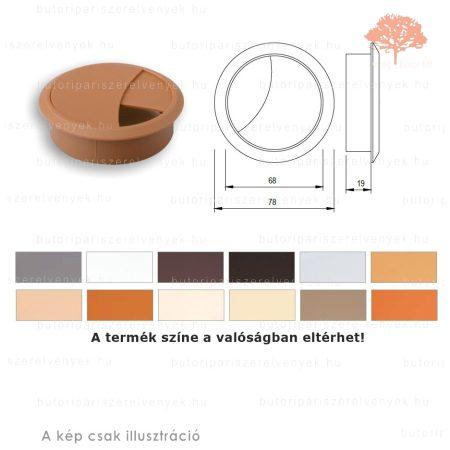 Calvados színű KEREK ø70mm-es zárható műanyag kábelkivezető