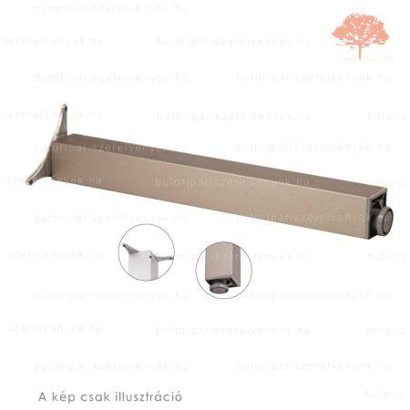 Négyszögletes nemesacél imitáció színű 80x80mm / 710mm-es asztalláb alumínium profilból