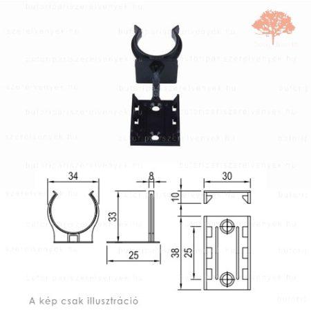 Csavarozható RÖGZÍTŐ ELEM henger alakú ø60/25mm fekete műanyag sclim szoklilábhoz