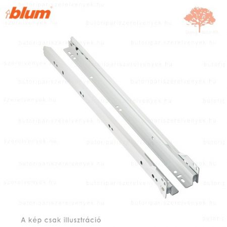 Blum Standard - fehér színű 550mm-es részleges kihúzású HAGYOMÁNYOS görgős fióksín