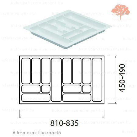 Fehér színű 900mm-es műanyag evőeszköztartó