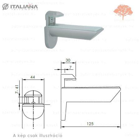 Italiana - ezüst színű tukán polctartó pár 7-41mm-es állíthatósággal