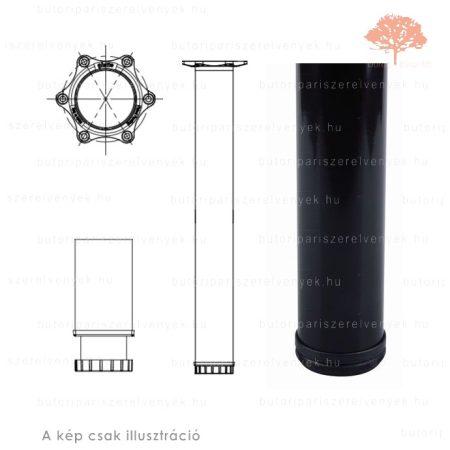 Henger alakú fekete színű ø60mm / 710mm-es asztalláb