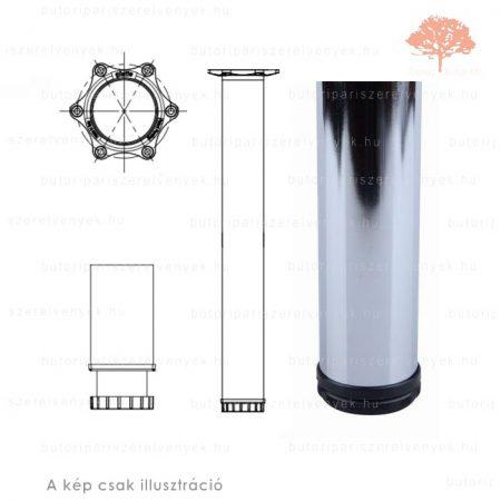 Henger alakú fényes króm színű ø60mm / 1100mm-es asztalláb