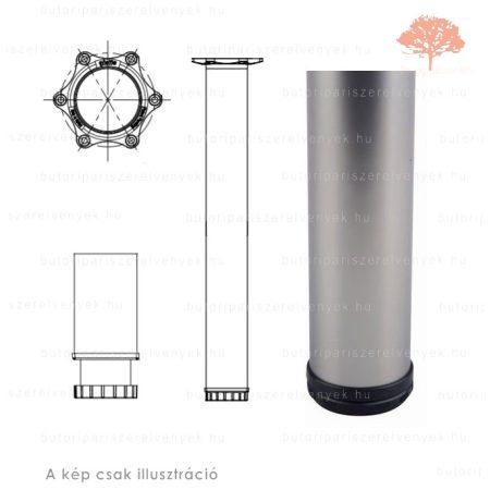 Henger alakú szatén (matt) nikkel színű ø60mm / 710mm-es asztalláb