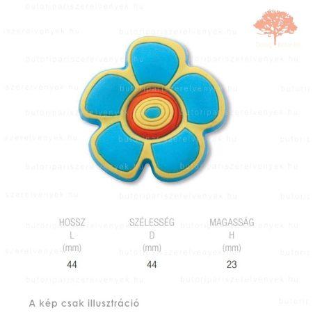 FR virág lágyított műanyag gomb