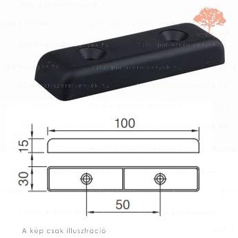 Fekete színű 30x100mm-es csavarozható csúszótalp