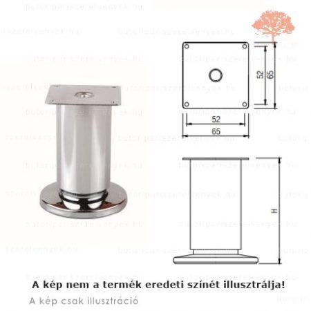 Fém henger alakú nemesacél imitáció (inox) színű ø50mm / 100mm-es bútorláb