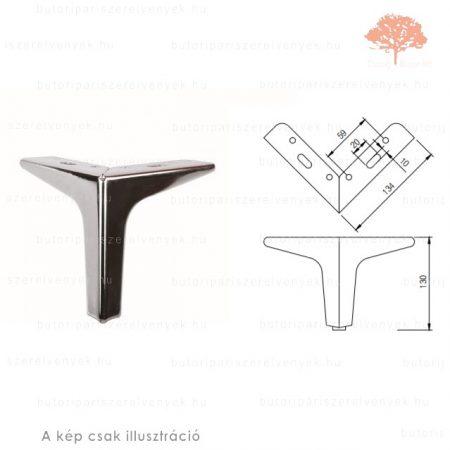 Fém sarok fényes króm színű 130mm-es bútorláb