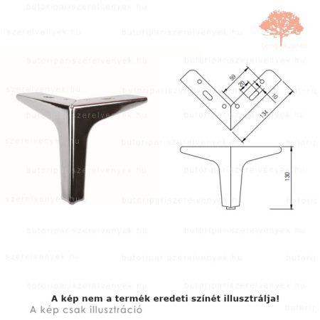 Fém sarok szatén (matt) króm színű 130mm-es bútorláb