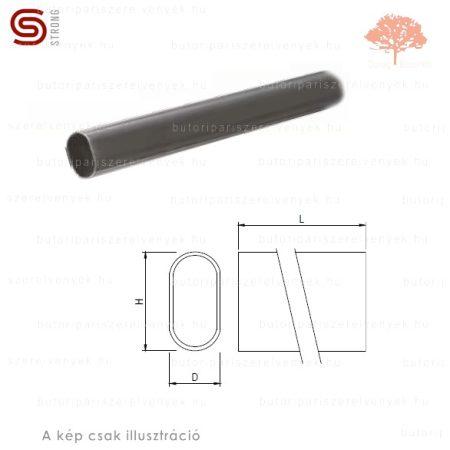 Strong - fényes króm színű 15x30mm-es OVÁLIS 3m hosszúságú ruharúd
