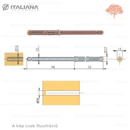 Italiana - 10mmx100mm-es rejtett polctartó