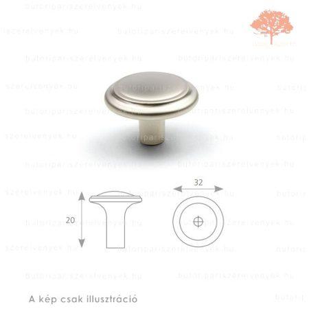 TU szatén (matt) nikkel színű gomb