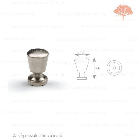 UK csiszolt nikkel színű gomb