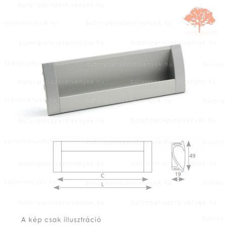 MA160 alumínium színű besüllyeszthető fogantyú
