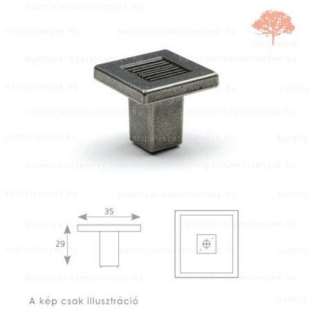 ST oxidált acél színű gomb