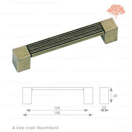 ST128 oxidált acél színű fogantyú