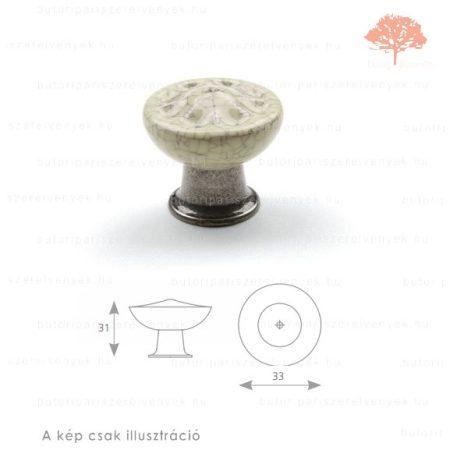 CO oxidált acél/repedezett porcelán színű gomb