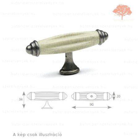 CY oxidált acél/repedezett porcelán színű gomb
