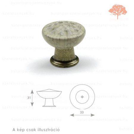 CO világos bronz/repedezett porcelán színű gomb