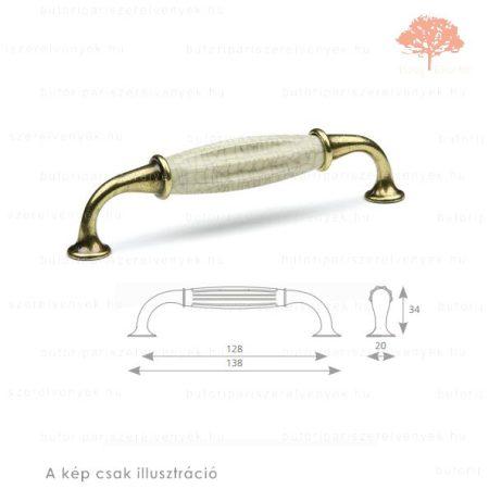 CO128 világos bronz/repedezett porcelán színű fogantyú