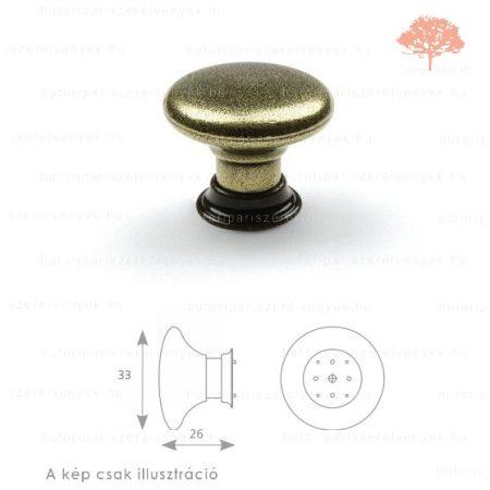 VI világos bronz/patinázott bronz színű gomb