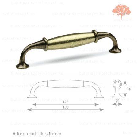 VI128 világos bronz/patinázott bronz színű fogantyú