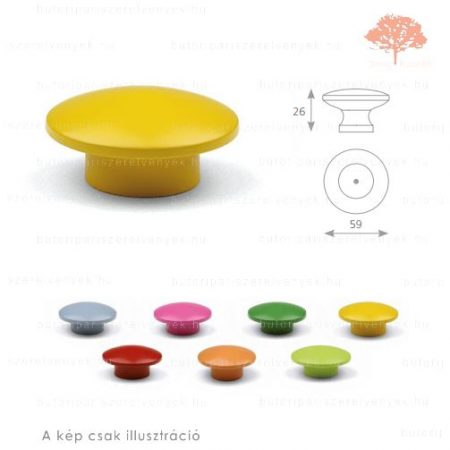 SO sárga színű gomb