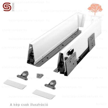 Strong - fehér színű 500mm-es teljes kihúzású StrongBox CSILLAPÍTÁSOS fiókszett 86mm-es oldallappal