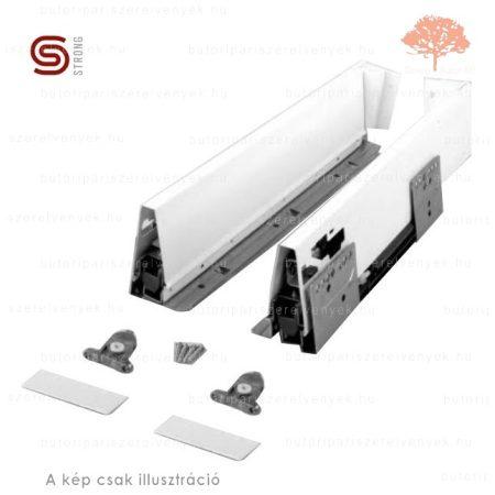 Strong - fehér színű 500mm-es teljes kihúzású StrongBox CSILLAPÍTÁSOS fiókszett 140mm-es oldallappal