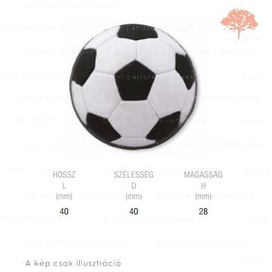 PA focilabda lágyított műanyag gomb