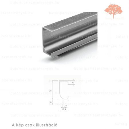 TE3000 alumínium színű fogantyú profil
