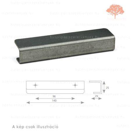 LI96 matt fekete acél színű fogantyú