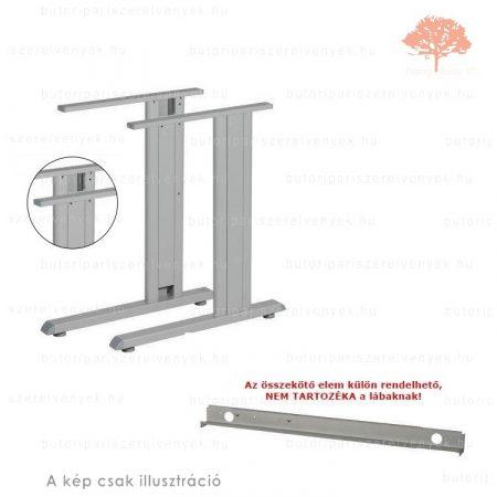 Irodai RAL 9006 ezüst színű állítható magasságú asztalláb
