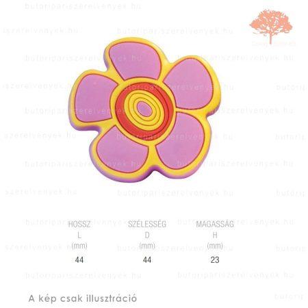 FI virág lágyított műanyag gomb