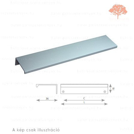 LU64 alumínium színű fogantyú profil
