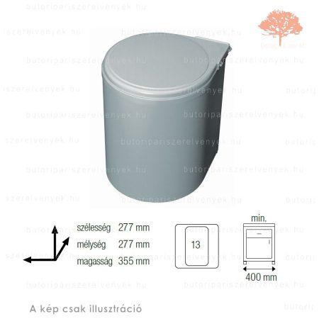 Szürke színű korpuszra szerelhető AUTOMATIKUS 13L-es műanyag konyhai szemetes