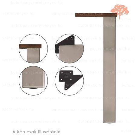 Négyszögletes nemesacél imitáció színű 80x80mm / 710mm-es asztalláb acél profilból