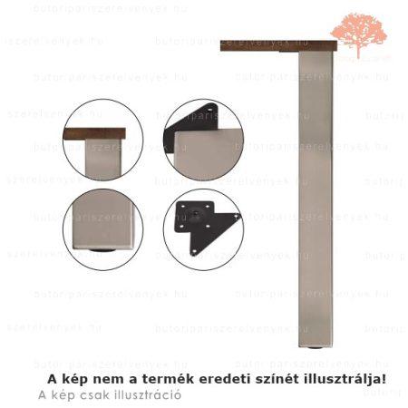 Négyszögletes fényes króm színű 80x80mm / 710mm-es asztalláb acél profilból