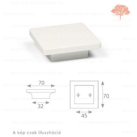 PE45 fehér edzett műanyag gomb
