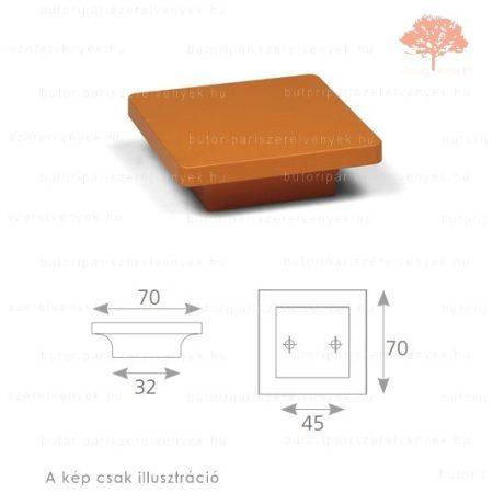PE45 narancssárga edzett műanyag gomb