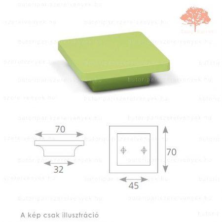 PE45 zöld edzett műanyag gomb