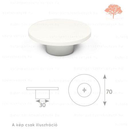 PN fehér edzett műanyag gomb
