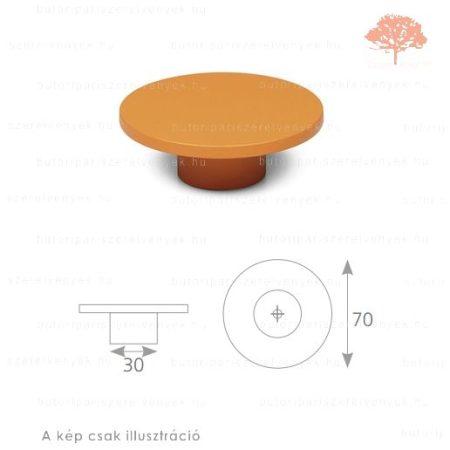 PN narancssárga edzett műanyag gomb