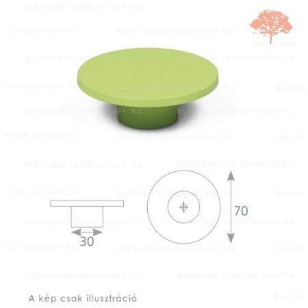 PN zöld edzett műanyag gomb